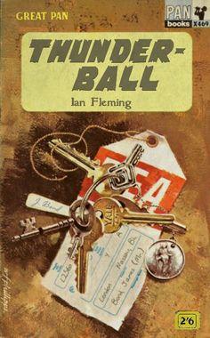 Ian Fleming: Thunderball (Great Pan edition) Crime Books, Crime Fiction, Pulp Fiction, Fiction Novels, James Bond Books, Bond Series, Best Book Covers, Bond Girls, Cool Books