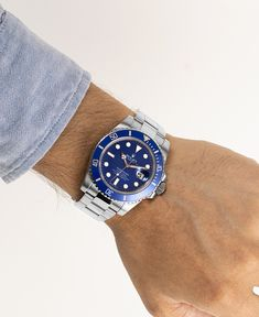 """Trick Gargamel and show the world your inner child with the stunning Rolex Submariner """"Smurf"""" (Ref. 116619LB) in white gold. Checked, certified and available at watchmaster.com. Buy Rolex, Rolex Submariner No Date, Rolex Models, Luxury Watch Brands, Inner Child, Rolex Watches, White Gold, Blue, Stuff To Buy"""