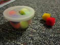 DIY quiet activities for toddlers: pompom push, travel size magnet board (use a CD case), and more!