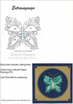 Page 2 of Butterflies / Iris Folding Patterns / Card Making Iris Folding Templates, Iris Paper Folding, Iris Folding Pattern, Paper Pieced Quilt Patterns, Card Patterns, Paper Cards, Folded Cards, Iris Art, Foundation Paper Piecing