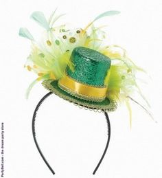 St. Patrick's Day Feathered Headband $8.43