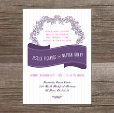 Stipes and Flourishes Wedding Invitations http://www.etsy.com/listing/159282082/stipes-and-flourishes-wedding?ref=shop_home_active