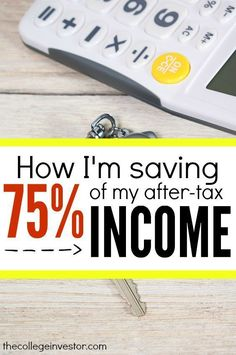 Saving a lot of your income isn't easy but is definitely doable. Find out how Brian is able to save 75 percent of his income each month. Super motivating! http://thecollegeinvestor.com/16853/save-75-after-tax-income-month/ Personal Finance #money