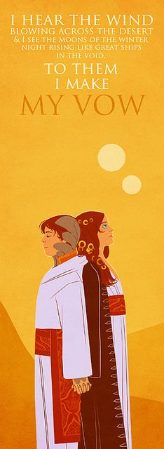 Leto II & Ghanima (Children of Dune) by waspwolfshark, via Flickr