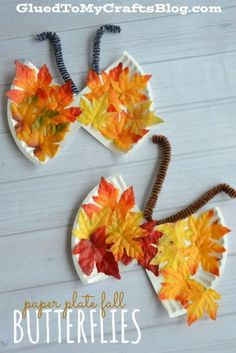 Paper Plate Fall Butterflies Kid Craft is part of Kids Crafts Butterfly Cute Ideas Paper Plate Fall Butterflies Kid Craft - Fall Arts And Crafts, Autumn Crafts, Thanksgiving Crafts, Daycare Crafts, Toddler Crafts, Preschool Crafts, Kids Crafts, Preschool Seasons, Bug Crafts