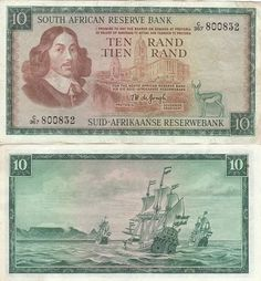 South African Ten Rand from +Robyn Lynne Klemptner Collection  Sign up at http://www.kollectbox.com/users/register  #South   #Africa   #Ran   #banknotes   #papermoney   #collectibles   #collectors   #hobby   #marketplace   #ecommerce   #startup   #tech