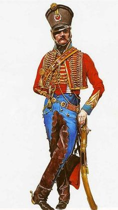 French Hussar of the Empire Empire, Military Art, Military History, Army Uniform, Military Uniforms, Military Costumes, French Army, Napoleonic Wars, Toy Soldiers