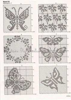 mariposas (?) I <3 theses 4 Filet crochet.