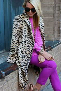 loves the pink colors with leopard print