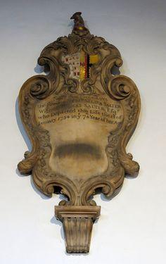 18th Century cartouche monuments: Van Sittart, Sykes, Salter, and Jeffreys .