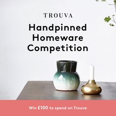 Introducing our Handpinned Homewares Competition! The most creative and inspiring board will win £100 to spend on Trouva. Click image for details! #TrouvaHandpinnedHomewares