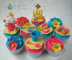 Peppa Pig Beach Cupcakes | Flickr – Compartilhamento de fotos!
