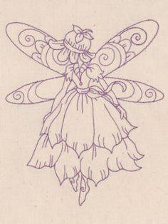 Redwork Design Patterns   Designs in Stitches - Redwork Fairies