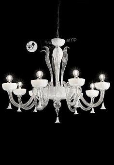 """Bacareto"" #Murano #glass #chandelier #light #classic #design #Venetian #handcrafted #Muranolampstore https://www.muranolampstore.com/en/murano-glass-chandelier-bacareto"