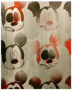R.I.P. M.I.C.K.E.Y.M.O.U.S.E. Zombie Mickey Mouse by MrMahaffey, $69.00