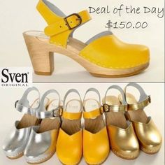 High heels can be really fun to wear. Explore the latest designs of high-heeled clogs for women here to give a new definition to your looks. Clog Boots, Clogs Shoes, Sven Clogs, Wooden Clogs, Wooden Shoe, Dog With A Blog, Mary Jane Clogs, Memorial Day, Character Shoes