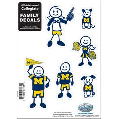 ~Michigan Wolverines Decal 5x7 Family Sheet New UPC~backorder