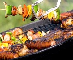 Cajun Andouille-Pepper Kabobs http://cajundelights.blogspot.com/2011/07/cajun-fourth-of-july-faves.html