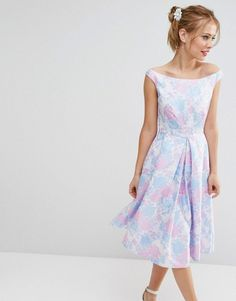 da76d9de5483 Asos SALON Beautiful Jacquard Prom Midi Dress Moda Primaverile