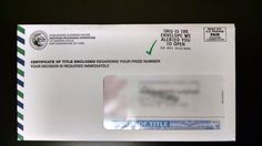 Did You Receive A Certificate of Title in the Mail? | PCH Blog
