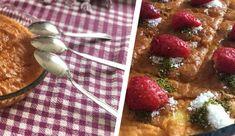 Efsane 3 kaşık tatlısı – Çilekli Mashed Potatoes, Oatmeal, Pudding, Anne, Breakfast, Ethnic Recipes, Desserts, Food, Iphone