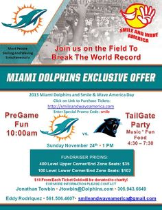 """Smile and Wave America is uniting people from all walks of life to stand together and send one unified message and that message is: """"We are America and we stand as one!"""" Join us on November 24th 2013 at Sun life Stadium were after the Miami Dolphins play the Carolina Panthers we will take the field as one people and break the World Record for most people Smiling and Waving Simultaneously, sending a powerful message of Love, Hope and Peace!"""