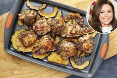 RACHAEL RAY'S ROAST SQUASH AND CHICKEN THIGHS