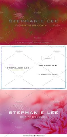 Stephanie Lee Premade Logo by Coral Antler Creative on @creativemarket