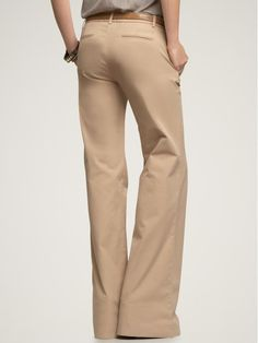 womens wide leg khaki pants - Pi Pants