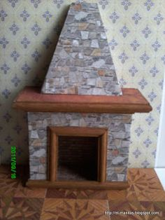 the world of crafts and craftsmanship: Chimney stack and fire place tutorial - Spanish