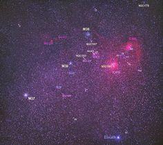 Una extraordinaria vista de la constelación del Auriga (Tunç Tezel, 2010)