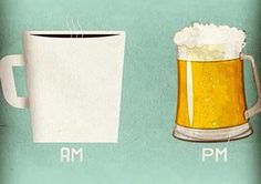 AM is for coffee and PM is for #CraftBeer Actually, it doesn't matter if it's AM or PM for beer.