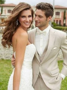 CUSTOM MADE LIGHT BEIGE GROOM TUXEDO BESPOKE BEIGE WEDDING SUITS FOR MEN Hot 19 #Unbranded #Tuxedo