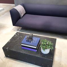 Nice #sofa and #black #marble #coffeetable at #menu ! #minimal...