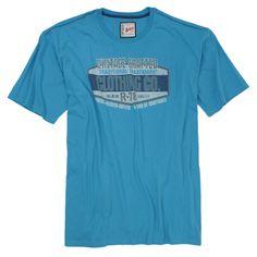 Blaues T-Shirt in großen Größen für Männer