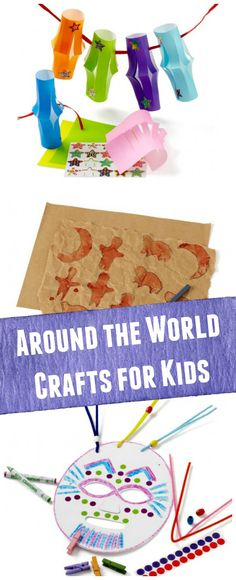Crafts from around the World! Activities for 6 countries -- perfect for geography or cultural learning from one of our STEM affiliates. Around The World Crafts For Kids, Green Crafts For Kids, Around The World Theme, Holidays Around The World, Art For Kids, Around The Worlds, Art Children, Children Church, Multicultural Activities