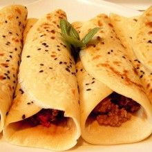 mouthwatering spicy mince crepes