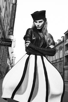 Photographer: Niklas Hoejlund www.niklashoejlund.com fashion photography black and white b/w city urban street female