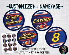 Nerf Cupcake Topper Labels Nerf Birthday Party Nerf Gun Wars