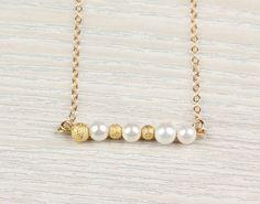 "Pearl necklace, bridesmaid necklace, ""Calliste"" Necklace"