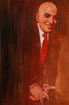 Looks like a portrait of Telly Savalas by Bernie Fuchs