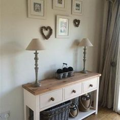 Console Table in White Tie No 2002 by Farrow and Ball.