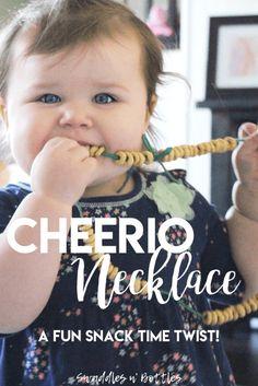Cheerio Necklace, A Fun Snack Time Idea!