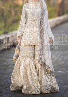 Nikkah dress Inspo for brides - - Pakistani Party Wear Dresses, Bridal Mehndi Dresses, Nikkah Dress, Shadi Dresses, Pakistani Wedding Outfits, Bridal Dress Design, Pakistani Bridal Dresses, Pakistani Wedding Dresses, Pakistani Dress Design