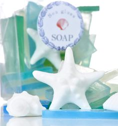 Bath gifts: Decorative Beach Inspired Soaps: http://www.completely-coastal.com/2013/11/decorative-beach-soaps.html