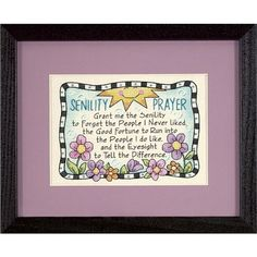 Dimensions Senility Prayer Mini Stamped Cross Stitch Kit - 7 x 5 inches from Create and Craft USA