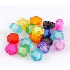 Wholesale Transparent Acrylic Bubblegum Beads Flower At Random About X Hole: Approx 100 PCs from China Supplier Acrylic Charms, Acrylic Beads, Bubble Gum, Color Mixing, China, Flowers, Royal Icing Flowers, Chewing Gum, Flower
