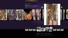 If I were ever to own a shop, I would make sure I had an awesome website like this as one of my first steps. Beautiful and simple, with great photos of work. Great photography is an important part of getting yourself out as an artist - bad photography makes you look like a mediocre tattooist!