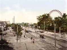 size: Photographic Print: View Down the Main Avenue in the Prater Vienna with the Giant Ferris Wheel on the Right : Entertainment Yosemite National Park, National Parks, Visit Austria, Vienna Austria, Ways Of Seeing, Best Cities, Worlds Of Fun, Great Places, Paris Skyline
