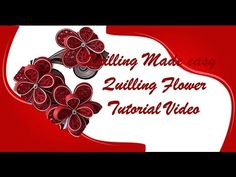 Paper Quilling How to make Beautiful Quilling Red/white Flower Quilling -Paper Art Quilling - YouTube